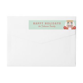 Nutcracker Holiday Wraparound Labels