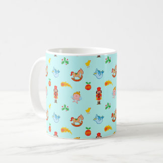 Nutcracker, horse, angel and bird Xmas pattern Coffee Mug