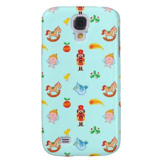 Nutcracker, horse, angel and bird Xmas pattern Galaxy S4 Case