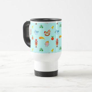 Nutcracker, horse, angel and bird Xmas pattern Travel Mug