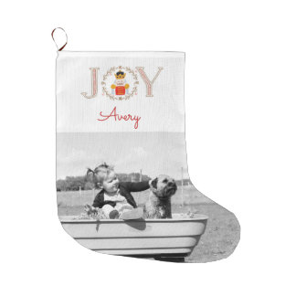 Nutcracker Joy Large Christmas Stocking
