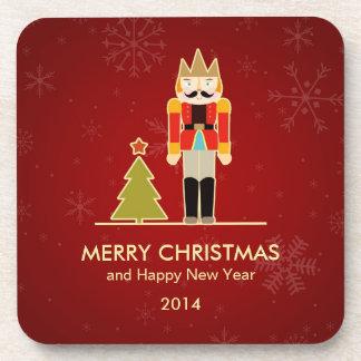 Nutcracker Merry Christmas and Happy New Year 2014 Coaster