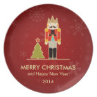 Nutcracker Merry Christmas and Happy New Year 2014 Plate