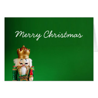 Nutcracker Merry Christmas Card