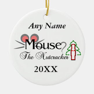 Nutcracker Mouse Ceramic Ornament