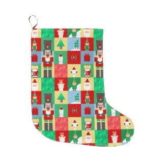 Nutcracker Pattern Christmas Stocking