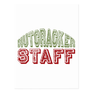 Nutcracker Staff Christmas Ballet Design Postcard