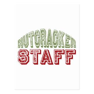 Nutcracker Staff Christmas Ballet Design Postcard