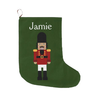 Nutcracker - Stocking, Customizable Large Christmas Stocking