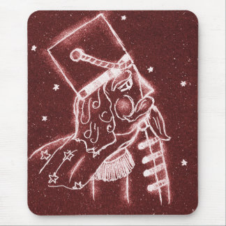 Nutcracker Toy Solder in Cranberry Red Mouse Pad