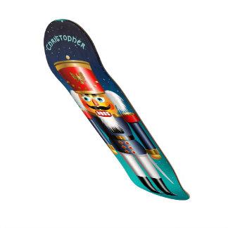 Nutcracker Toy Soldier In Blue Uniform Skate Board