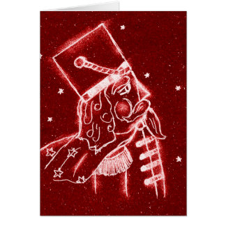 NUTCRACKER TOY SOLDIER in Bright Red Card