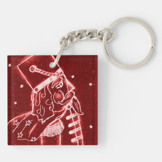 NUTCRACKER TOY SOLDIER in Bright Red Key Ring