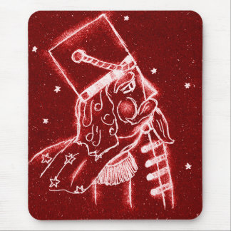 NUTCRACKER TOY SOLDIER in Bright Red Mouse Pad