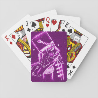 Nutcracker Toy Soldier in Magenta Poker Deck