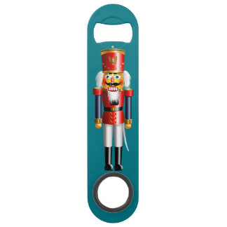 Nutcracker Toy Soldiers In Red And Blue Uniforms