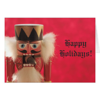Nutcracker with acorn card