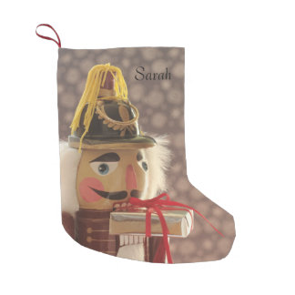 Nutcracker with silver gift