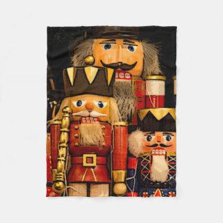 Nutcrackers Christmas Fleece Blanket
