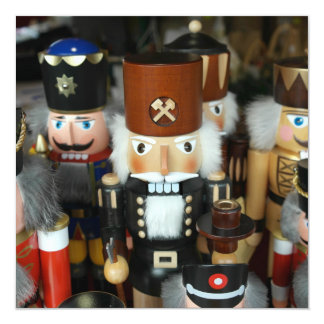 Nutcrackers Christmas Holiday Xmas Design 13 Cm X 13 Cm Square Invitation Card