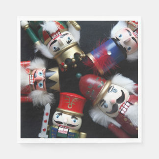Nutcrackers heads together disposable napkin