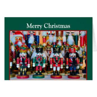 Nutcrackers Merry Christmas Card