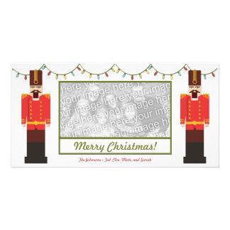 Nutcrackers, Merry Christmas, Photo Card Template