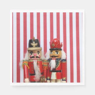 Nutcrackers on stripes paper napkin
