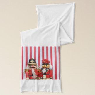 Nutcrackers on stripes scarf