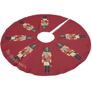Nutcrackers Personalized Brushed Polyester Tree Skirt