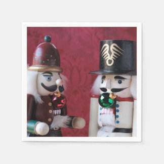 Nutcrackers with ornaments disposable serviettes