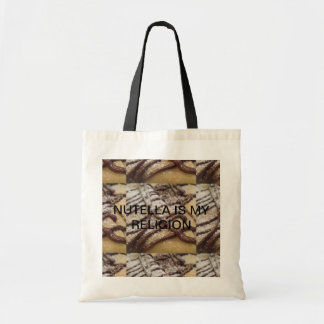 NUTELLA IS MY RELIGION TOTE BAG