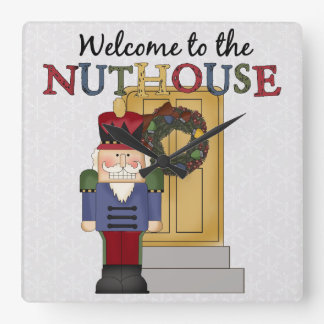 Nuthouse Christmas Wall Clock