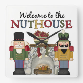 Nuthouse Holiday Wall Clock