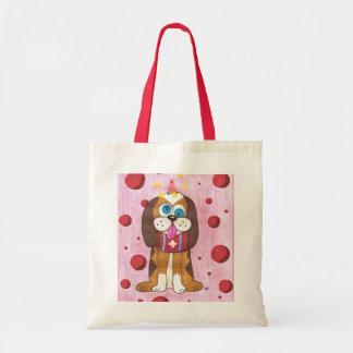 Nutmeg dog small tote bag