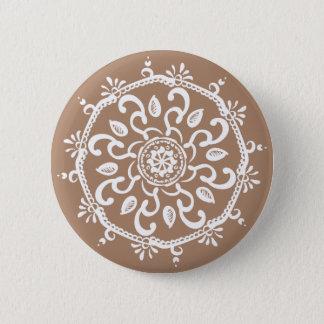 Nutmeg Mandala 6 Cm Round Badge