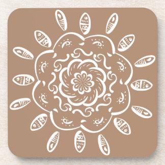 Nutmeg Mandala Coaster