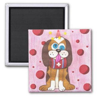 Nutmeg the dog refrigerator magnet