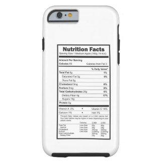 nutrition facts tough iPhone 6 case