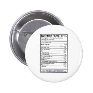 Nutrition Facts For 1L Pinback Buttons