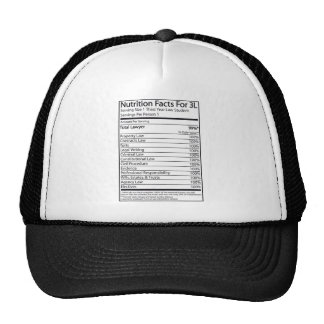 Nutrition Facts For A 3L Trucker Hats