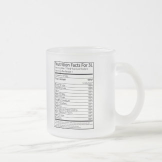 Nutrition Facts For A 3L Coffee Mugs