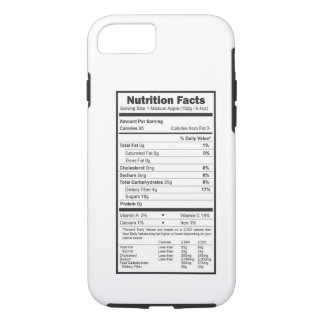 nutrition facts iPhone 8/7 case