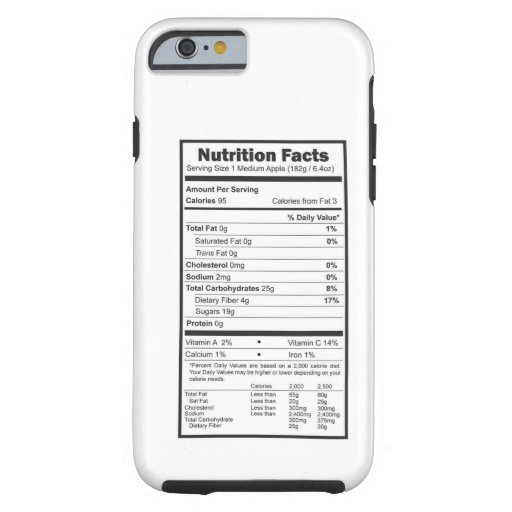 iphone 6 facts nutrition facts tough iphone 6 zazzle 11331