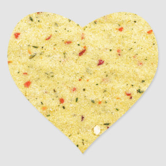 Nutritional Flavor Enhancer texture Heart Sticker