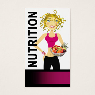 Nutritionist Dietician Food Manager Healthy Eating Business Card