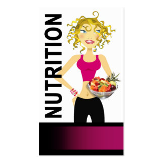 Nutritionist Dietician Food Manager Healthy Eating Business Card Template
