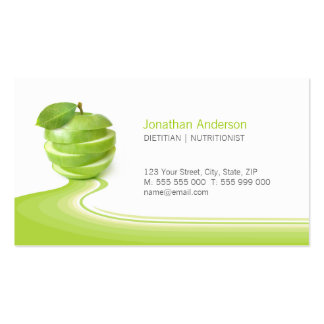 Nutritionist Healthy Eating Diet business card