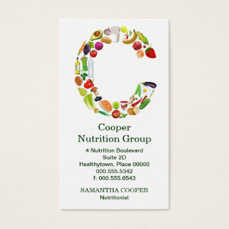 Nutritionist Monogram C Appointment Business Card