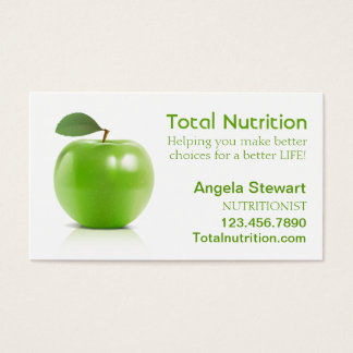 Nutritionist with Apple Business Card